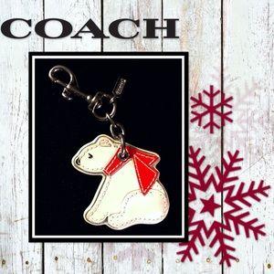 Darling COACH Polar Bear w/ Scarf Keychain